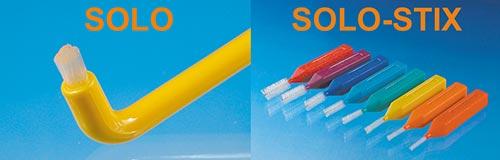 Gegensatz zu Solo und Solo-Stix in verschiedenen Farben und Größen